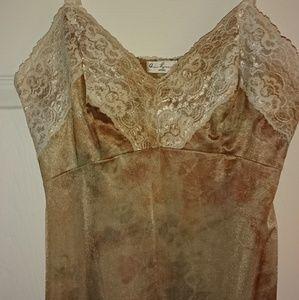 Vintage 90s Tie Dye Lace Slip Chemise Dress NYC